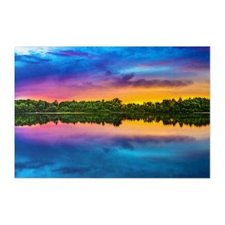 Beautiful sunset acrylic wall art