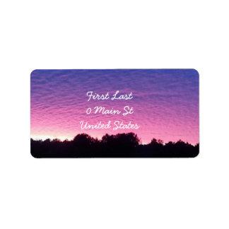 Beautiful Sunset Address Label
