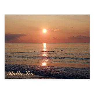 Beautiful Sunset at Baltic Sea Photo Postcards