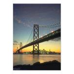Beautiful Sunset: Bay Bridge, San Francisco, Calif 13 Cm X 18 Cm Invitation Card