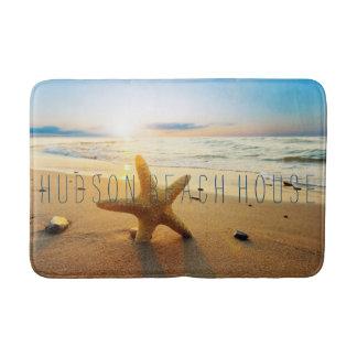 Beautiful Sunset Beach Custom Beach House Bath Mat