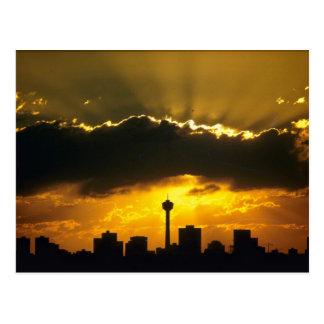 Beautiful Sunset: Calgary sunset, Alberta, Canada Postcard