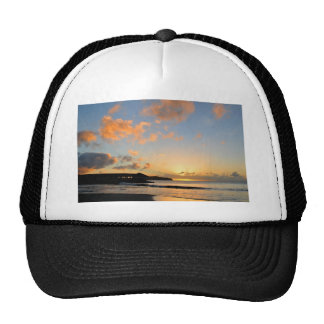 Beautiful sunset cap
