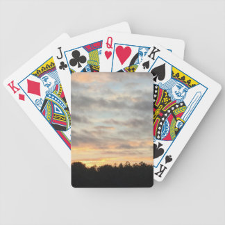 Beautiful Sunset Card Holder Bicycle Playing Cards