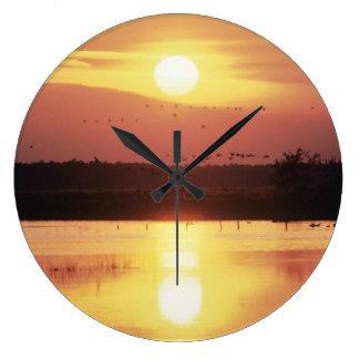 Beautiful Sunset Clock
