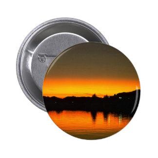 Beautiful Sunset Colorado River Parker Arizona Button