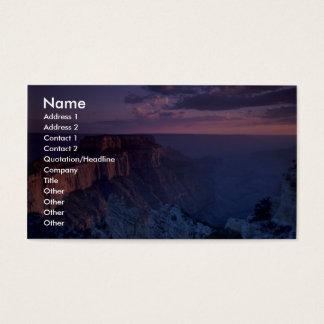 Beautiful Sunset: Grand Canyon, Arizona Business Card