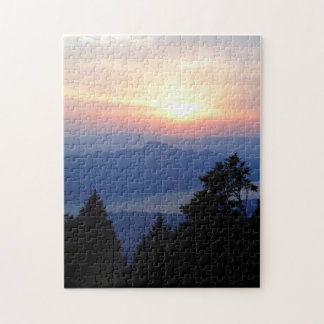 Beautiful Sunset in France Difficult Jigsaw Puzzle