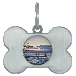 Beautiful Sunset in Montego Bay, Jamaica Pet ID Tag