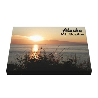 Beautiful Sunset in Mt. Susitna Canvas Print