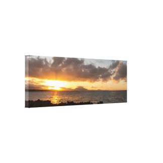 Beautiful Sunset In The Caribbean Canvas Print