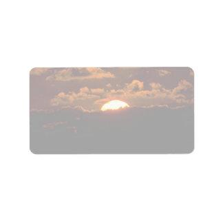 Beautiful Sunset: Maui, Hawaii Label