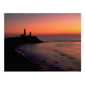 Beautiful Sunset: Montauk Point Light House, Long Postcard