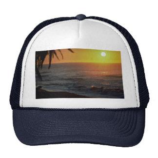 Beautiful Sunset: North Shore, Oahu, Hawaii Mesh Hats
