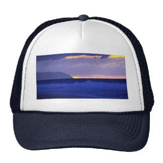 Beautiful Sunset: North Shore, Oahu, Hawaii Trucker Hats