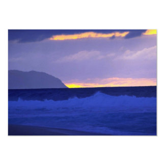 "Beautiful Sunset: North Shore, Oahu, Hawaii 5"" X 7"" Invitation Card"