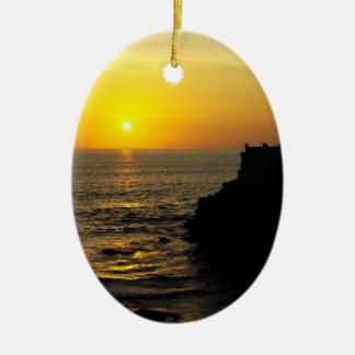beautiful sunset on Bali island Ornament