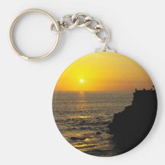 beautiful sunset on Bali island Key Ring