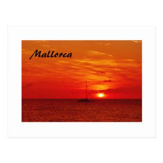 Beautiful Sunset on Mallorca - Postcard