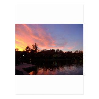 Beautiful Sunset Over Lake Post Card