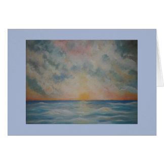 Beautiful sunset over the ocean notecard