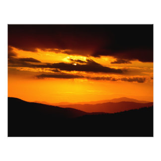 Beautiful sunset photo 21.5 cm x 28 cm flyer