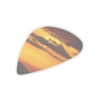 Beautiful sunset photo acetal guitar pick