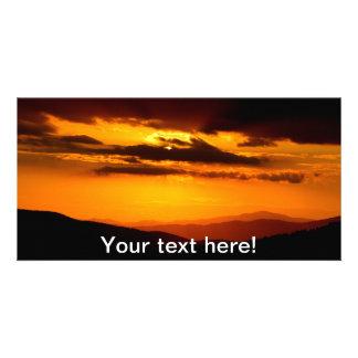 Beautiful sunset photo card
