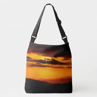Beautiful sunset photo crossbody bag