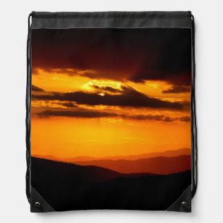 Beautiful sunset photo drawstring bag