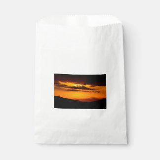 Beautiful sunset photo favour bag