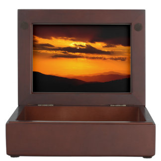 Beautiful sunset photo keepsake box