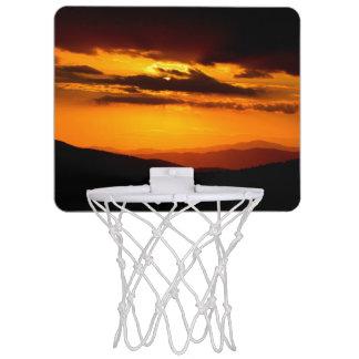 Beautiful sunset photo mini basketball hoop