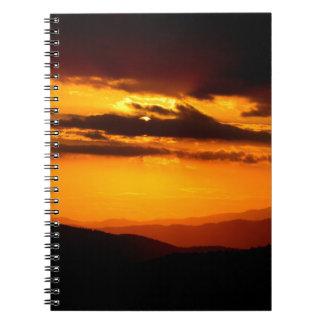 Beautiful sunset photo notebook