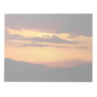 Beautiful sunset photo notepad
