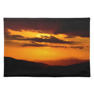 Beautiful sunset photo placemat