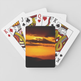 Beautiful sunset photo playing cards