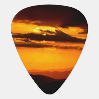 Beautiful sunset photo plectrum