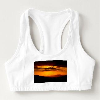 Beautiful sunset photo sports bra