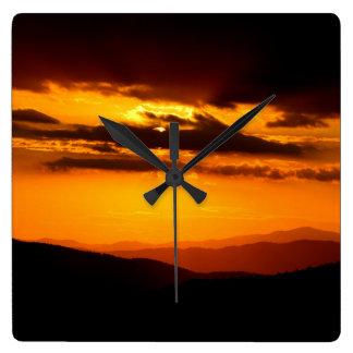 Beautiful sunset photo square wall clock