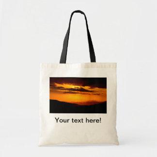 Beautiful sunset photo tote bag