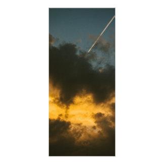 Beautiful sunset rack card