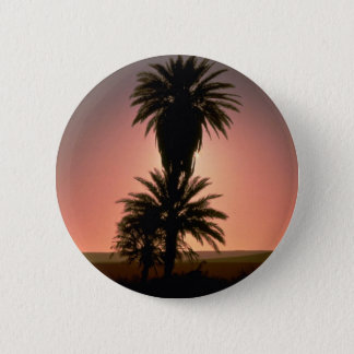Beautiful Sunset: Sahara Desert, Algeria 6 Cm Round Badge