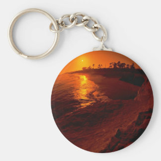 Beautiful Sunset: Santa Barbara, California Key Ring