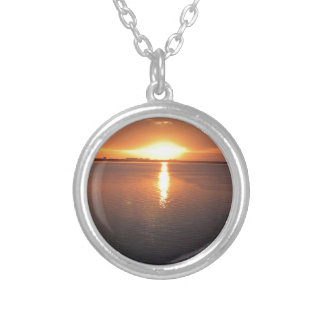 Beautiful Sunset Silver Plated Necklace