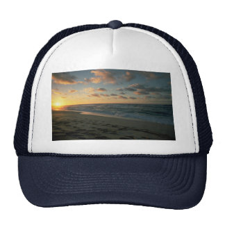 Beautiful Sunset: Sunset Beach, Oahu, Hawaii Mesh Hats