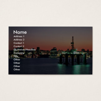 Beautiful Sunset: Sunset off newly built oil rig, Business Card