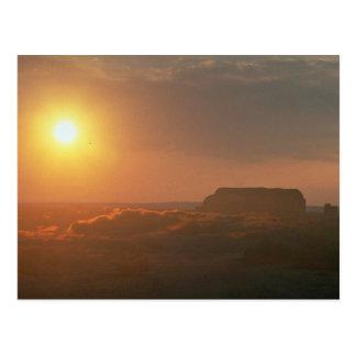 Beautiful Sunset: Surrimpose with the sun, Quasr-E Postcard