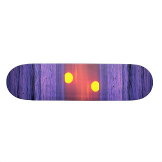 Beautiful Sunset: Table Top Reef, Solana Beach, Ca Skate Board Deck
