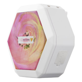 Beautiful, surreal, abstract, colorful,rose,floral white boombot rex bluetooth speaker